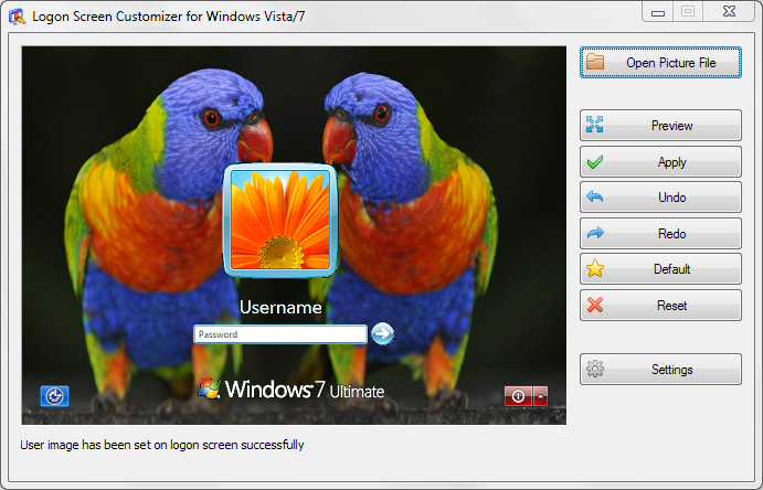 VSLogonScreenCustomizer 64-bit screenshot
